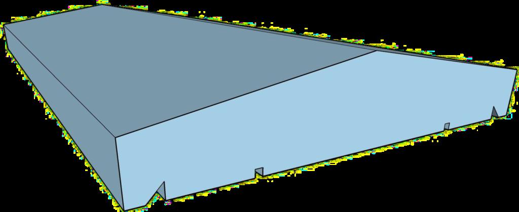 Berlin típusú kerítés fedlap
