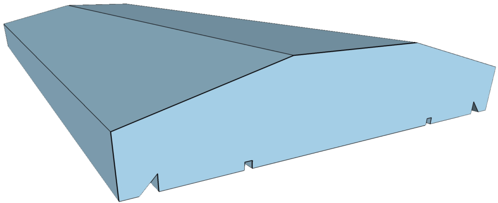 Madrid típusú kerítés fedlap