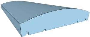 Milano típusú kerítés fedlap